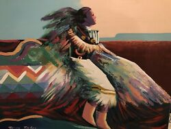Original Painting Signed, Stamped And Numbered By James Eagles. Native America