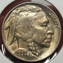 1930-s Buffalo Nickel, Gem Uncirculated, Great Color And Luster   0912-16