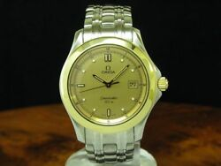Omega Seamaster 18kt 750 Gold/stainless Steel Watch With Date / Ref 168.1501