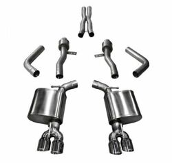 Corsa Sport Cat-back Exhaust For 2015-2021 Dodge Challenger 6.2l And 6.4l 14987