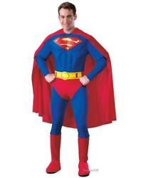 Superman Costume Mens DC Comics Muscle Official CHOOSE SIZE Classic Superhero