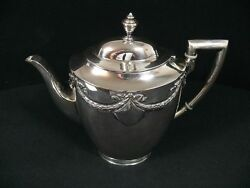 Wilkens And Sandoumlhne 800 Silver Coffee Pot From 1910 / Jug / Real Silver/6421g