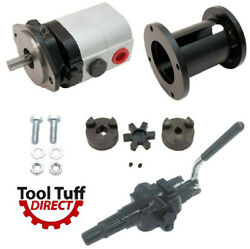 28 Gpm 2-stage Hydraulic Log Splitter Pump, Mount, Coupler And High Flow Valve Kit