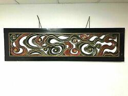 Antique Chinese Carved Lacquer Wood Ventilation Panel Screen Divider Wall Art
