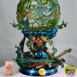 Ql Studio One Piece Portgas·d· Ace Model Painted Statue In Stock H58cm High-q Gk