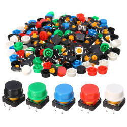 100pcs Push Button Momentary Switch Button Cap Plastic Tactile Switch PCB Tact