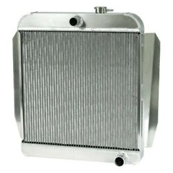 For Chevy Truck 55-57 Afco 80137-p-sp-n Street Rod Performance Radiator W Fan