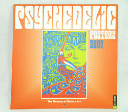 RARE MOMA Psychedelic Posters 2007 Wall Calendar 60's Jefferson Airplane, Doors