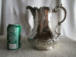 Rare Sterling Water Pitcher Circa 1850 S