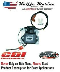 Cdi 114-2986 Switch Box And Coil For Mercury Outboard 50-85 4 Cyl 90-150 Hp 6 Cyl