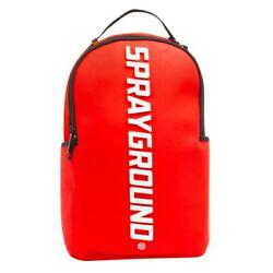 Brand New SPRAYGROUND Rubber Logo Red White Deluxe Bag Backpack $79.99
