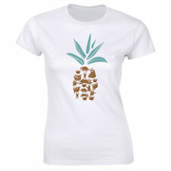 Cute Sloth Pineapple T-Shirt for Women $9.88