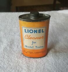 1930s Advertising Tin Lionel Cleaner For Model Trains Paper Label