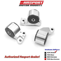 Hasport For 88-91 Honda Civic/crx D-series Obd0 Stock Replacement Mount Kit 62a