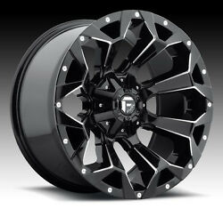 20 Fuel D576 Assault Black Wheels 265/50r20 Tires Package 5x150 Toyota Tundra