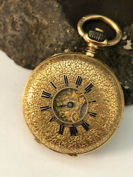 Rare Antique 18 K Gold H Grandjean And Co. Locle N 37886 Pocket Watch 1800and039s Fancy