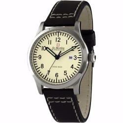 St. Moritz GS0361031 Gents Cream Dial Leather Strap Swiss Made Watch RRP £249