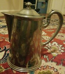 Antique Silver Plated Fraget N Plaque Pot/ Pitcher Late 19th Century/ Early 20th