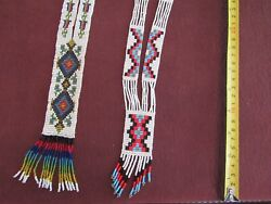 2 Stunning Vintage Native American Beaded Necklaces
