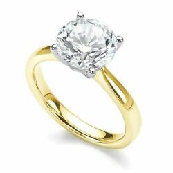 18ct Yellow Gold Certified Diamond Solitaire Four Claw Engagement Ring 0.50ct