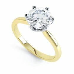 18ct Yellow Gold Certified Diamond Solitaire Six Claw Engagement Ring 0.50ct