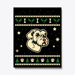 Christmas Sporting Lucas Terrier Gift Canvas Print