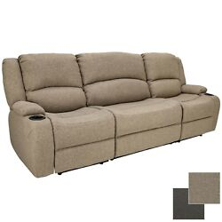 94 Cloth Powered Wall Hugger Recliner Sofa Couch Rv Furniture Drop Down Console