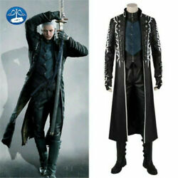 Game Devil May Cry 5 Vergil Dante Nero Cosplay Costume Full Set Halloween Outfit