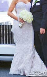 Gorgeous Wedding dress mermaid style By Victor Harper in ivory