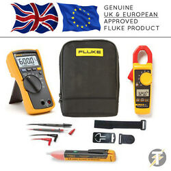 Fluke 114 True Rms Multimeter Kit85 + 325 Clamp Meter+tpak3 + 1ac+c115 Custodia