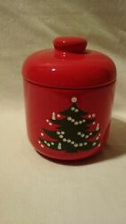 Waechtersbach Christmas Tree Cookie Jar And Lid Large Candy Container