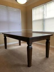 Farm Table - Rustic And Chic - Walnut Dining Table - Seats 8 - Custom Solid Wood