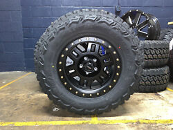 5 17x8.5 Vision 398 Manx Wheels Rims Tires Package 5x5 33 Mt Jeep Wrangler Jl