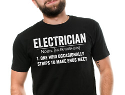 Electrician T Shirt Definition Funny Electric Gift Career Electrician t shirt