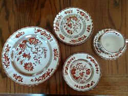 Spode Copeland India Tree Set Of Four Each Plus Gravy Boat And 1 Soup Bowl