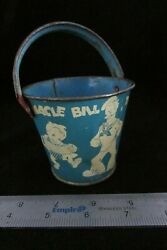 Vintage Barnacle Bill The Sailor Sand Pail With Handle Nice