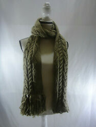 Michael Kors Scarf Pointelle Cable Knit Scarf CAMELBROWN - NWT