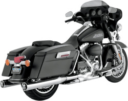 Vance And Hines - 16773 - Monster Round Slip-ons Chrome With Chrome Tips