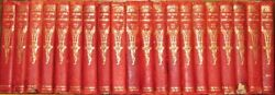Leather Setcomplete, Children's Encyclopedia Antiquarian Rustic Old Rare