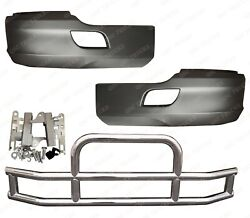 Qsc Bumper Corners Left Right Pair Stainless Steel Deer Guard For Kenworth T680