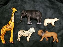 Vtg Marvel Trading Corp Vintage Hong Kong Plastic Zoo Animals Toy Figure Lot