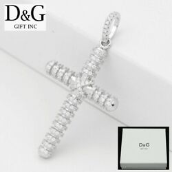 DG Men#x27;s 925 Sterling SilverCROSS CZ Eternity 42mm PendantUnisex**BOX $19.99