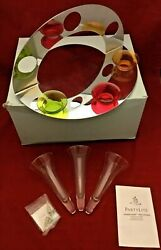 Partylite Modern Silver Triple Wall Sconce Mirror P8442 New In Box 5+ Tall