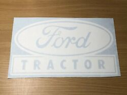 Vintage Ford Tractor Sticker 12andrdquo White Vinyl Decal 4x4 Loader Backhoe Window