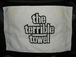Ultra Rare 70's Vintage Pittsburgh Steelers The Terrible Towel With Cannon Tag