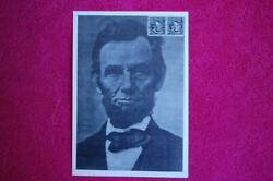 Abraham Lincoln 4c Stamp Fd Card Lincoln Photo 5.5x8 S1303 14042 Coil Version