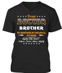 Proud Doctor Brother Funny Gift Premium Jersey V-Neck $19.99