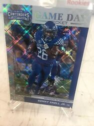 2019 Benny Snell Jr Panini Contenders Draft Picks Game Day Ticket /15 Kentucky