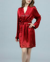 TRUE US size Womens Bridesmaid Satin Silk Pajama Robe Gown Wedding Bridal Party