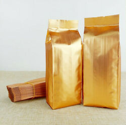 Gold Open Top Aluminum Foil Bags Side Gussets Snack Nut Pack Heat Seal Pouches